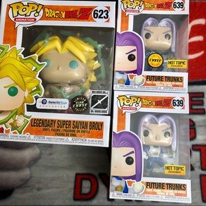 Funko Pop chase set future trunks broly